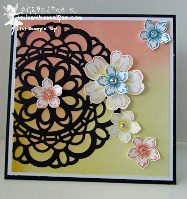 stampin up, cts #73, petite petals, paper doily, zierdeckchen, flower shop, watercolor wonder, farbenwunder