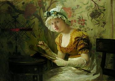 Die Stickerin - Franz Xaver Simm