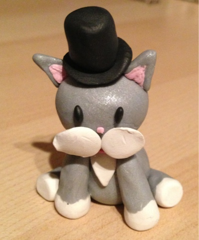Monopoly Polymer Clay Cat