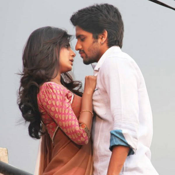 Samantha and Naga Chaitanya in a still from the Tamil movie Autonagar Surya. www.moviegalleri.net