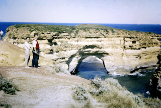 circa 1960 - at the Loch ard Gorge with the Underwaters Explorers club of Victoria - Mum & Dad - Vivienne & Trevor Ryan