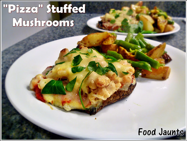 """Pizza"" Stuffed Mushrooms"