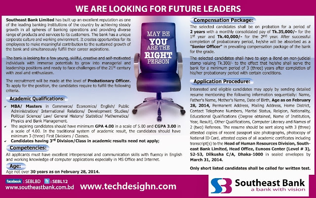 senior officer southeast bank