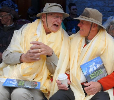 Honored guests: George Band (last survivor of the 1953 ascent of Everest) and Peter Hillary