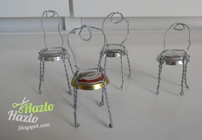 Cómo reciclar sujeta tapones para hacer sillitas.