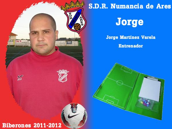 A. D. R. Numancia de Ares. Biberones 2011-2012. Jorge. Entrenador