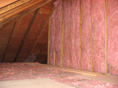 R19 Insulation The First Picture Shows The R19 We Hung Between The Joists In The Living Room And