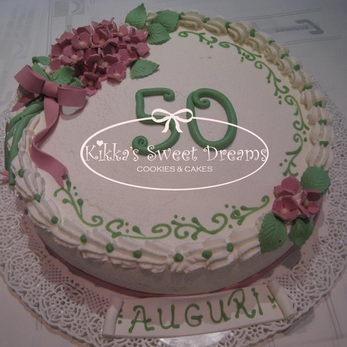 Kikka 39 s sweet dreams torta 50 compleanno for Decorazione torte per 50 anni di matrimonio