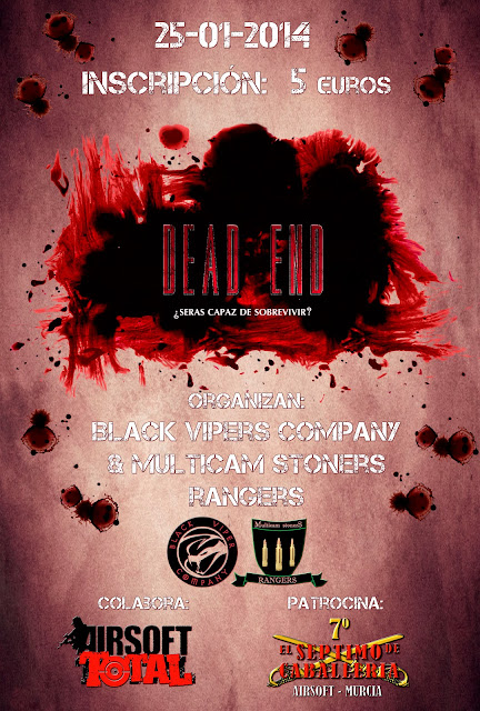 DEAD END ¿seras capaz de sobrevivir? 25-01-2014 Cartel