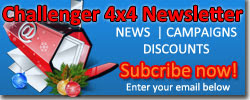 Subscribe Challenger 4x4 newsletter