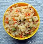 Instant veggie poha-Beaten rice with veggies