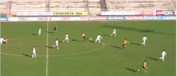 A brilliant 50 yard golazo you wont have seen: Fabio Cifani (US Termoli) v Torres
