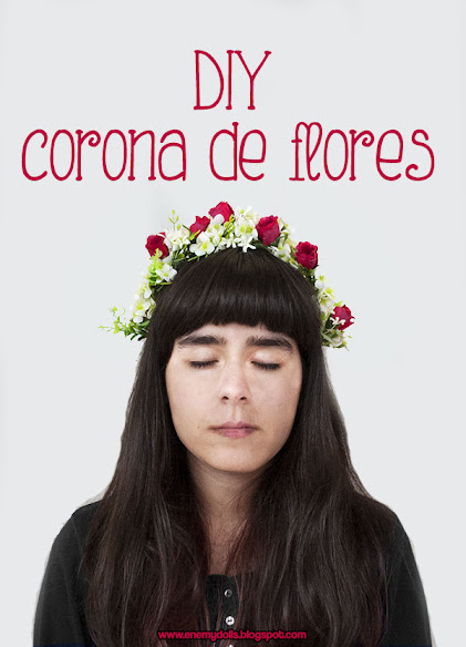 Tutorial diadema o corona de flores - Enemy Dolls