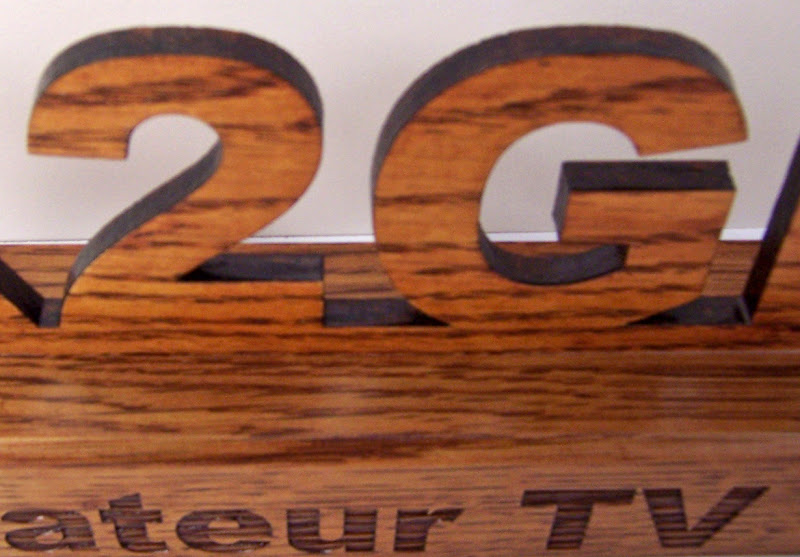 3D Television Station Call Sign Plaque