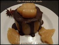 Flan à la pomme et au chocolat - recette indexée dans la rubrique Desserts