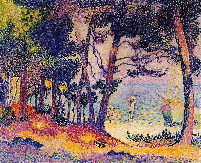 Henri-Edmond Cross - A Pine Wood, Provence