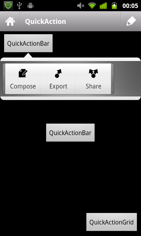 Greendroid Action Bar Demo