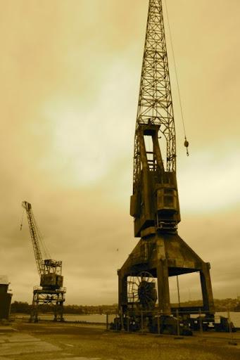 rusting crane, Cockatoo Island, Sydney Harbour