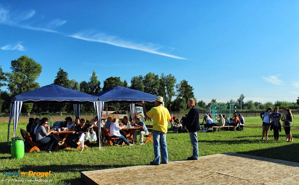 grillowanie w Piaskowcu z sołtysem i wójtem gminy