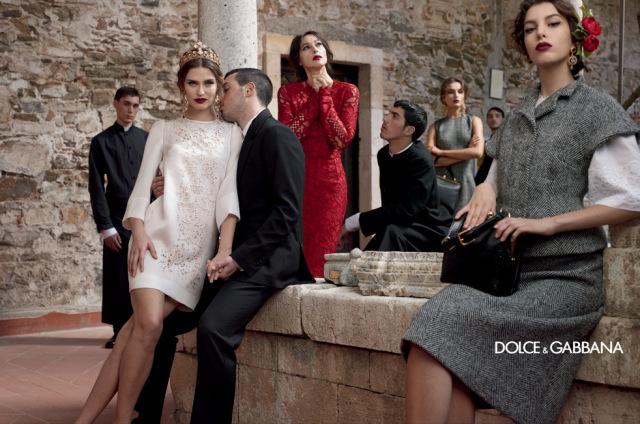 *戲劇性的拍攝手法:Dolce & Gabbana 2013秋冬形象照 8