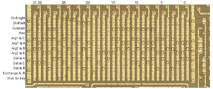 The instruction decode ROM in the TMS0805 processor that powers the Sinclair Scientific calculator.