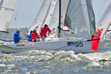 J/70 rounding mark off Annapolis, MD
