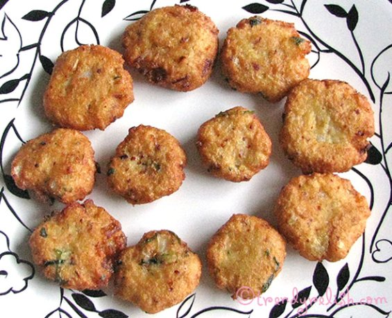 Moong Dal Vadas made with Idlis