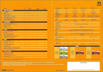 New Tata Indica eV2 specifications brochure
