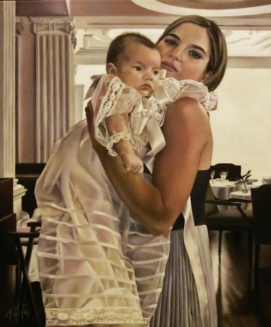 Retrato,pintura retrato al óleo de Marta Astrain