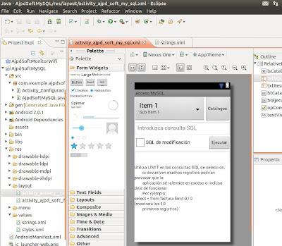 Añadir proyecto Android a Eclipse para aplicación acceso MySQL