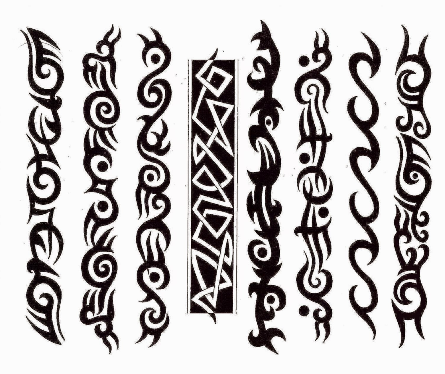 Simple Tribal Band Tattoo   Interior Home Design