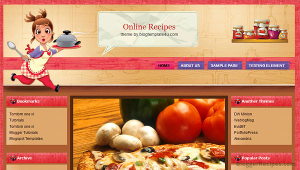 10 best food recipe blogger templates 2015 template for share online recipes blogger template forumfinder Choice Image