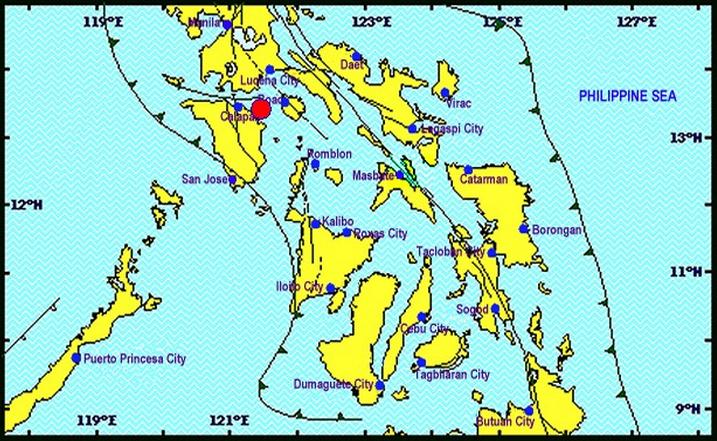 Oriental Mindoro quake