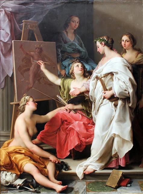 Pompeo Batoni - Allegory of the Arts