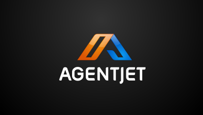 Agent Jet : company develops and innovates web applications and software for real estate professionals logo design