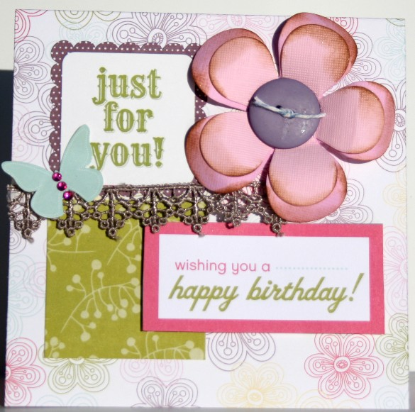 Scrapbook Doodle Blog Just For You Birthday Card Echo Park Little