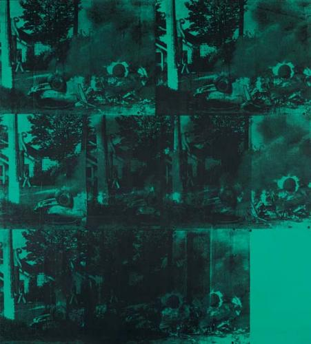 GREEN CAR CRASH - Warhol