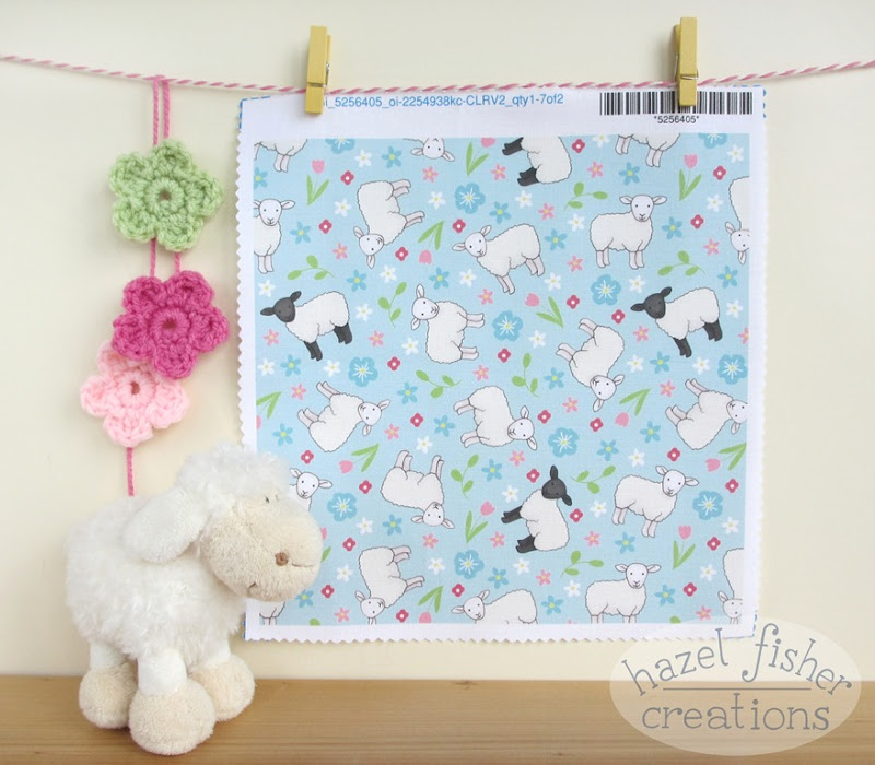 2015 May 29 Spoonflower Ditsy Sheep swatch fabric design hazelfishercreations