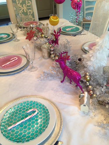 Christmas table sugar plum dining table