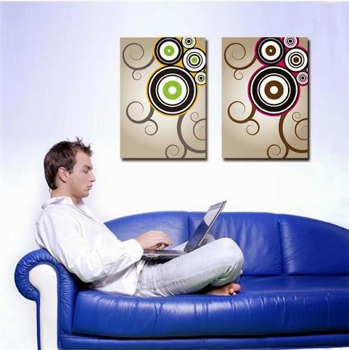abstract circles wall art Canvas Prints Classical Oil P