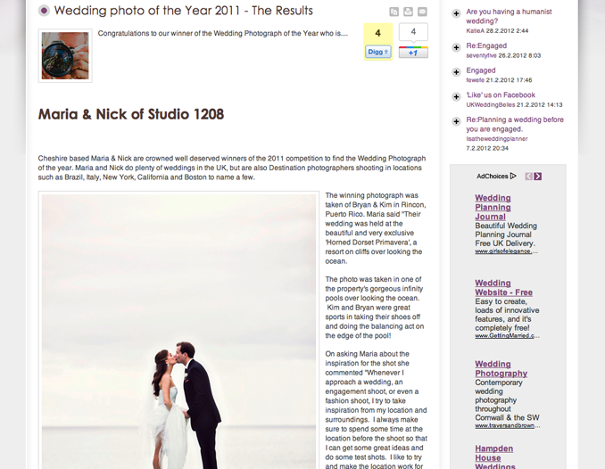 STUDIO 1208 wedding photo of the year