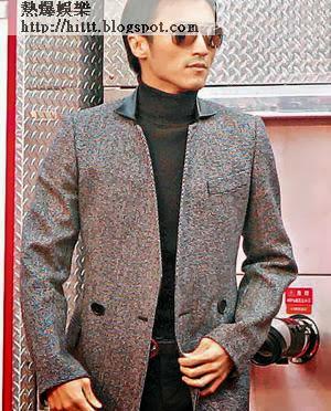 謝霆鋒昨日乘消防車現身,對兒子的就學問題,他表現關心。