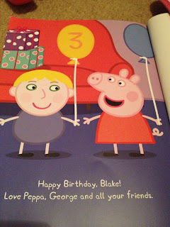Happy Birthday. Blake page from Penwizard Personalised story book