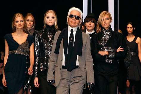 Karl Lagerfeld, desfile