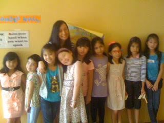 Trisha Sebastian with kids from the Children's Ministry