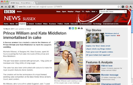 kate and william wedding cake. BBC - Prince William and Kate