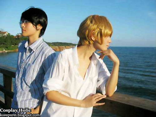 ouran high school host club cosplay - otori kyouya and suo tamaki