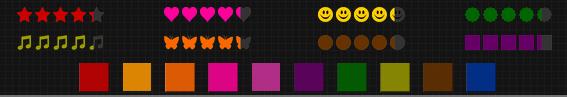 Liste former og farver