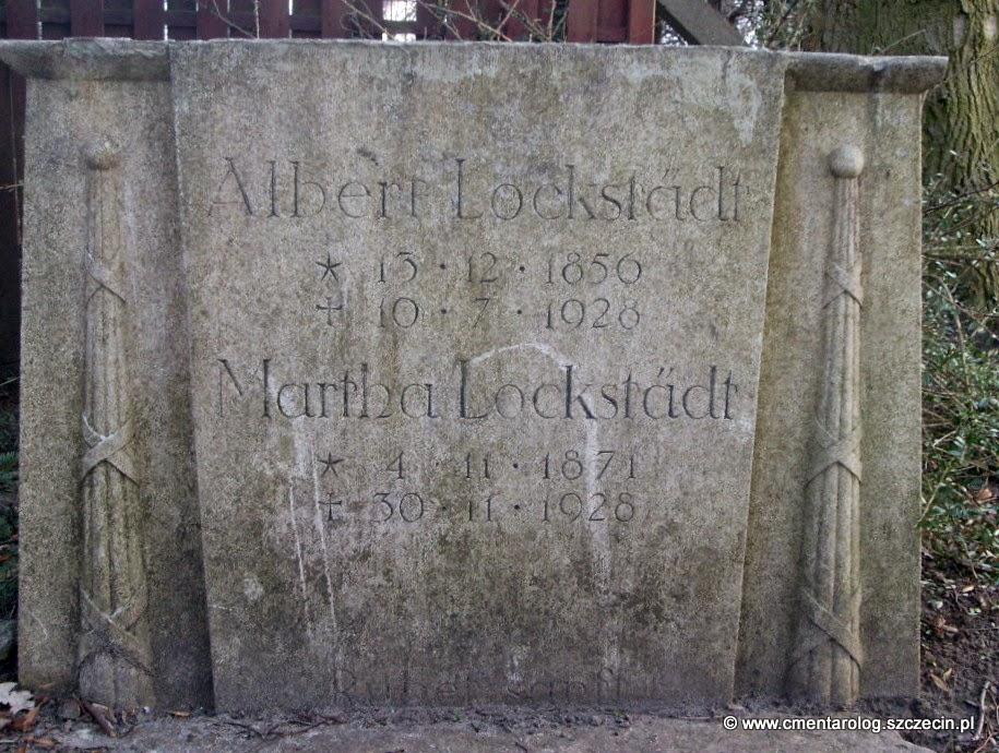 Nagrobek Alberta i Marthy Lockstadt (cmentarz przy ul. Mokrej, Szczecin-Osów, fot. Agata Freindorf, 2009)