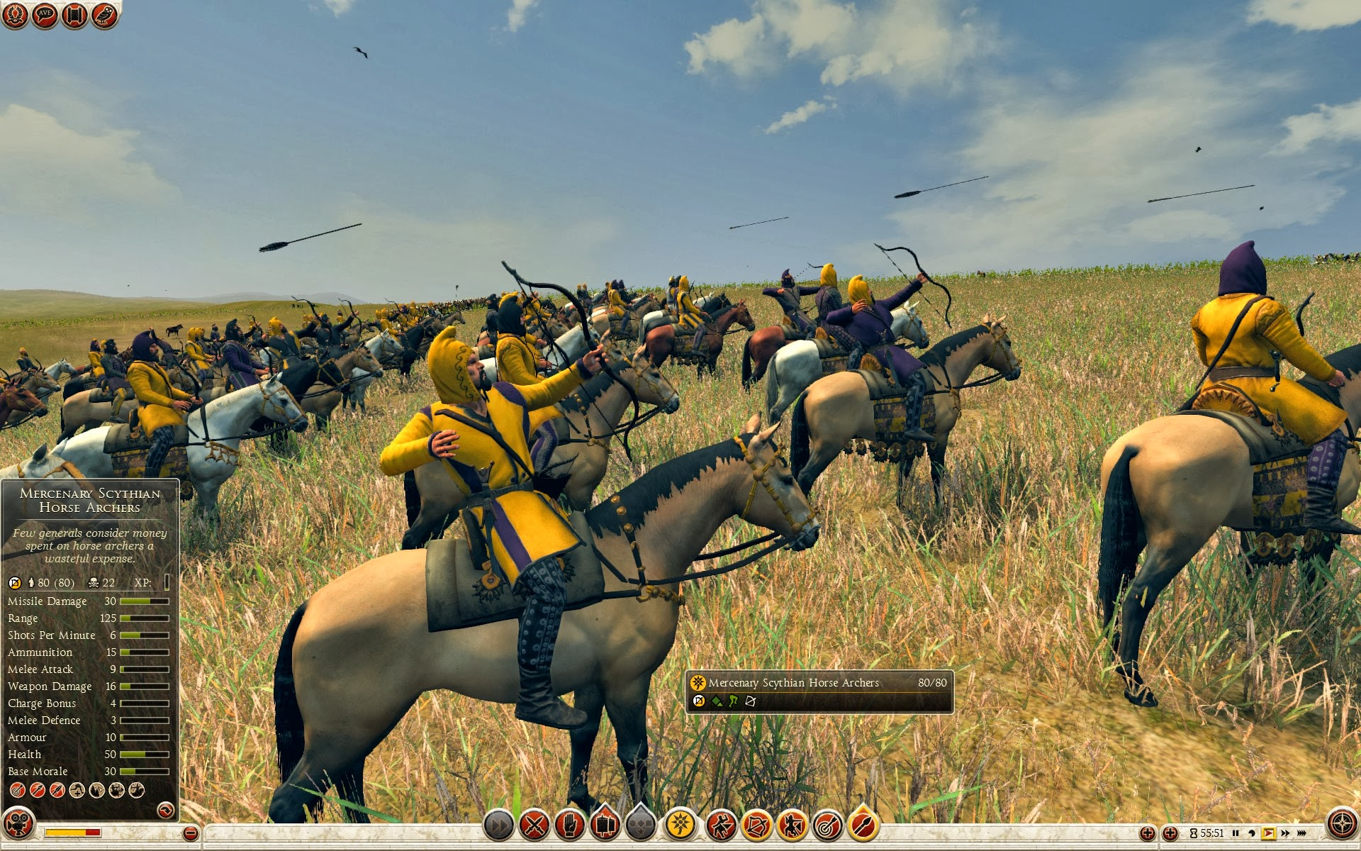Mercenary Scythian Horse Archers Baktria Total War